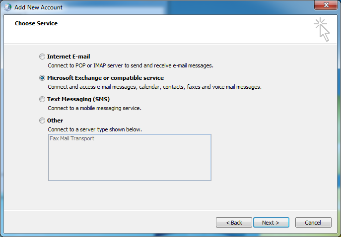 Configure Outlook Anywhere for College of Medicine Exchange