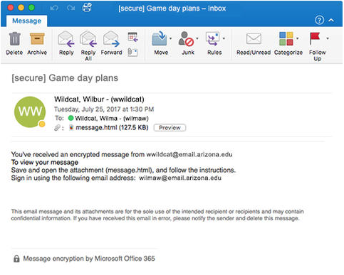 Encrypt email with Microsoft Exchange | College of Medicine